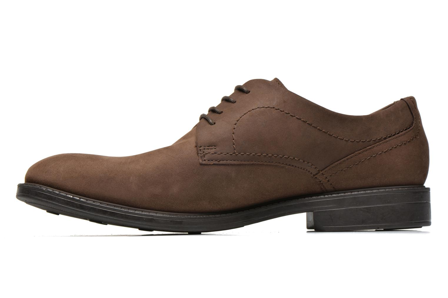 Chaussures à lacets Clarks Chilver Walk GTX Marron vue face