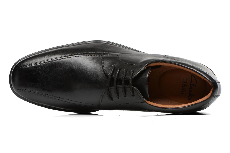 Chaussures à lacets Clarks Gosworth Over Noir vue gauche