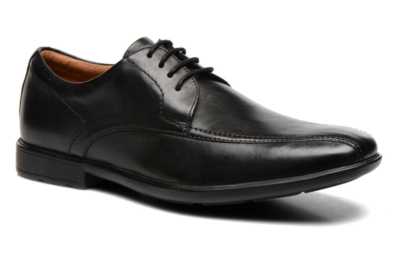 Schnürschuhe Clarks Gosworth Over schwarz detaillierte ansicht/modell