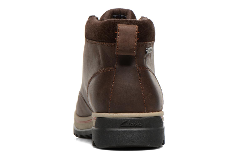 Bottines et boots Clarks Ripway Hill GTX Marron vue droite