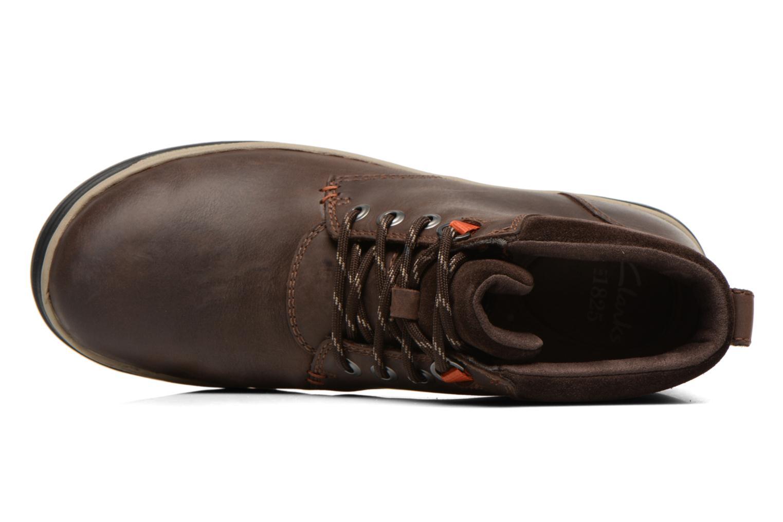 Bottines et boots Clarks Ripway Hill GTX Marron vue gauche