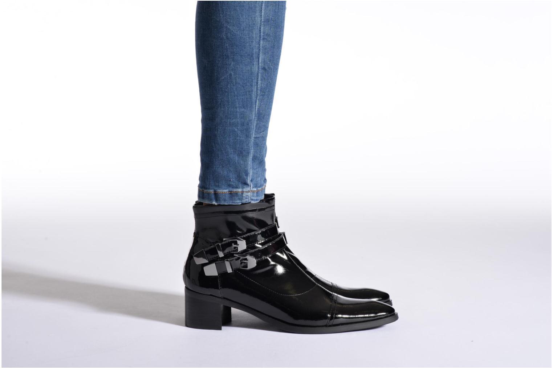 Bottines et boots JB MARTIN Belaire Noir vue bas / vue portée sac
