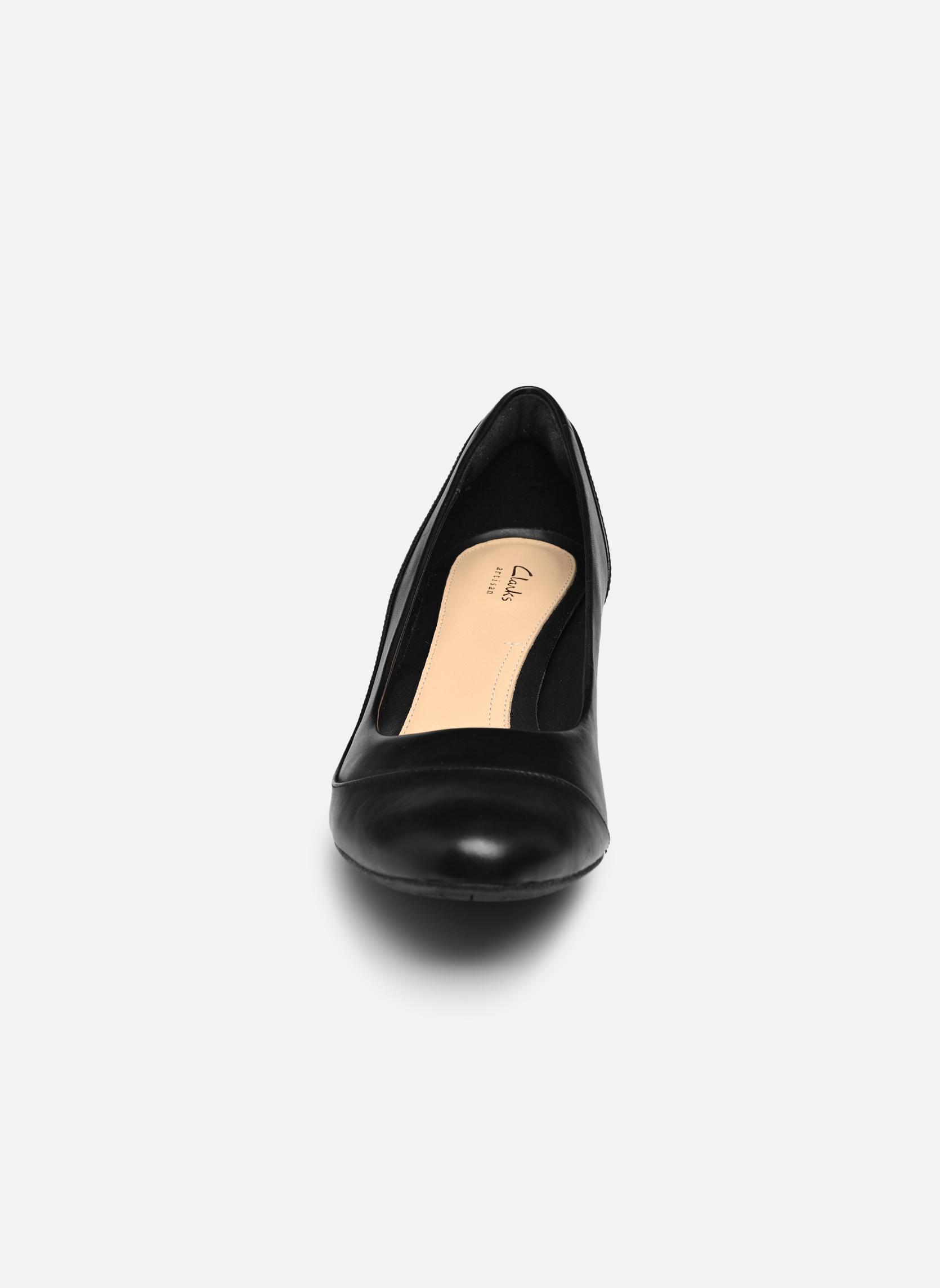Høje hæle Clarks Denny Harbour Sort se skoene på