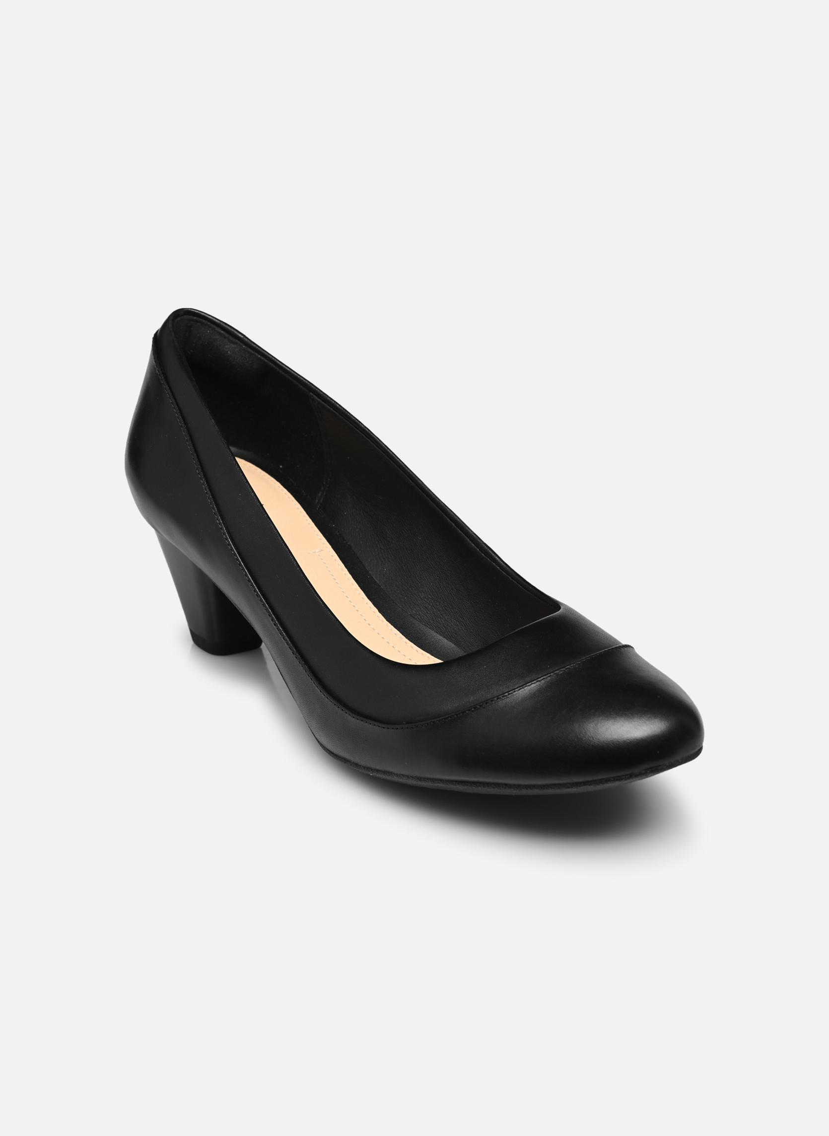 Høje hæle Clarks Denny Harbour Sort detaljeret billede af skoene