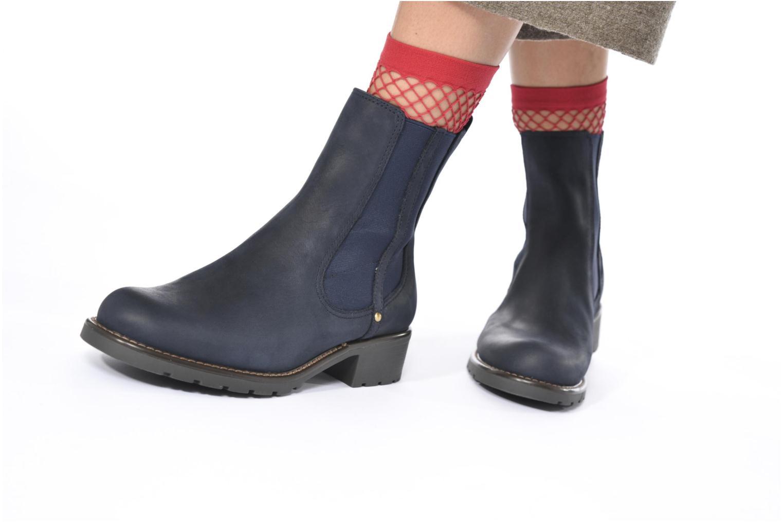 Bottines et boots Clarks Orinoco Club Bleu vue bas / vue portée sac