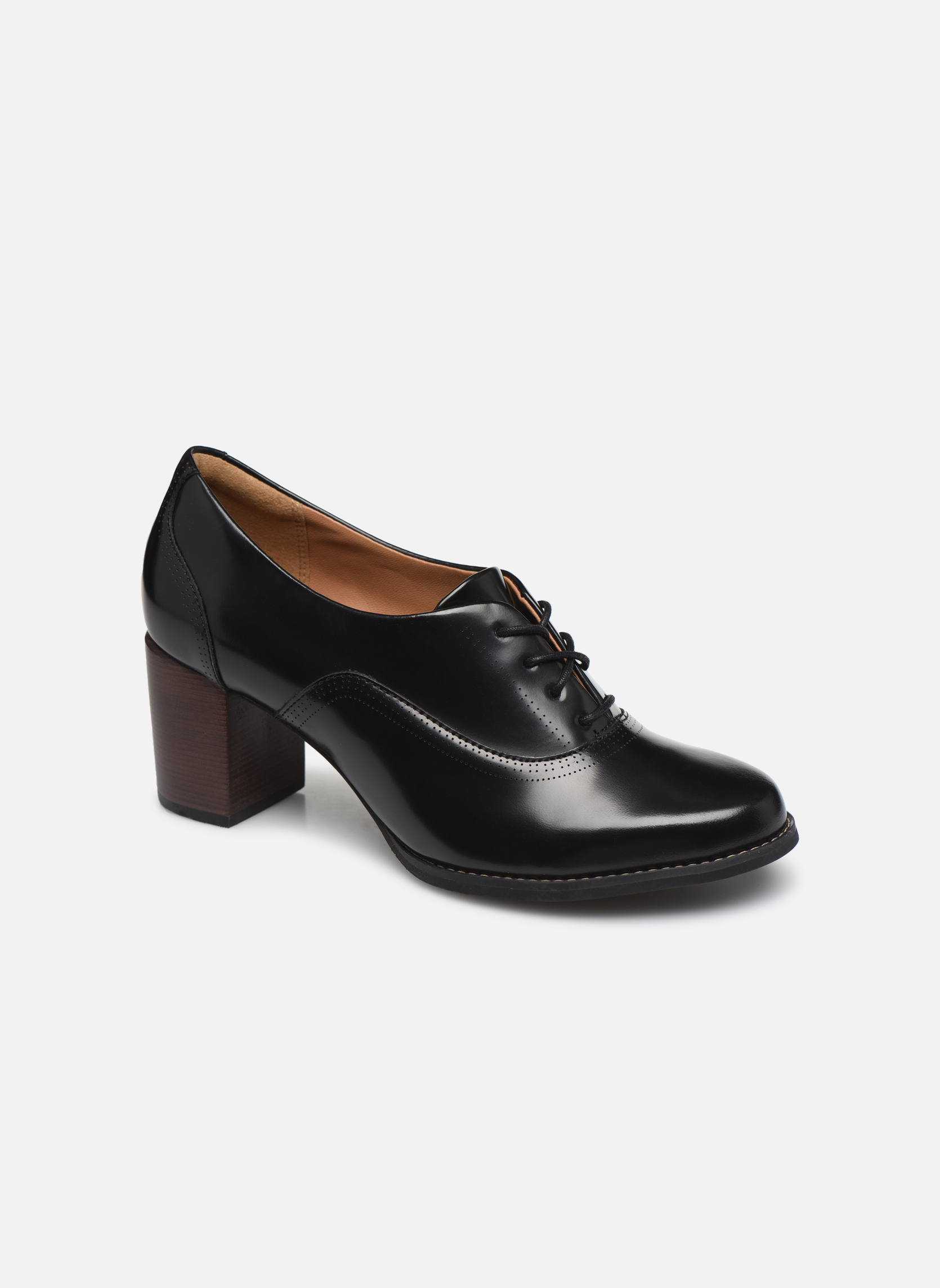 Chaussures à lacets Clarks Tarah Victoria Noir vue détail/paire