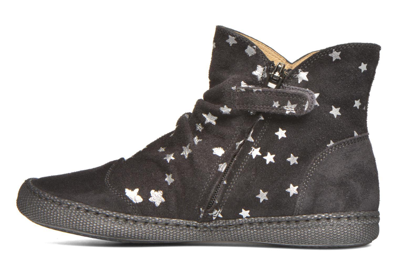 Bottines et boots Pom d Api New school pleats golden Noir vue face