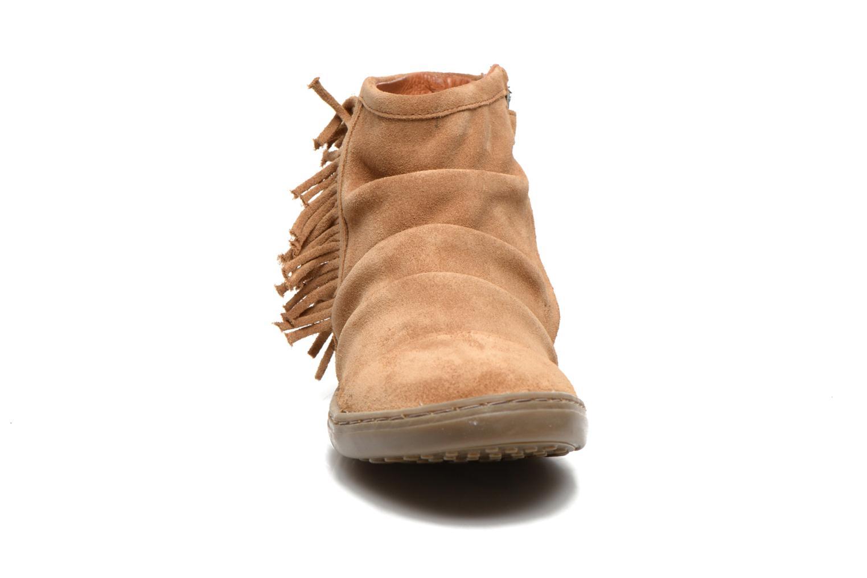 Bottines et boots Shwik FALL BOOTS FRINGE Marron vue portées chaussures