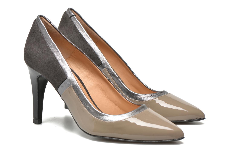 Notting Heels #1 Vernis mouse + ante antracita + Polvore cromo + vernis noir