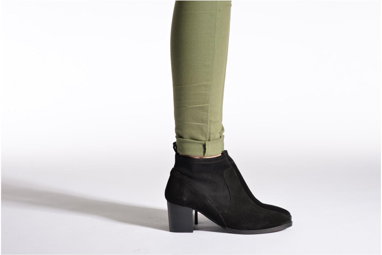 Bottines et boots Georgia Rose Semidris Noir vue bas / vue portée sac