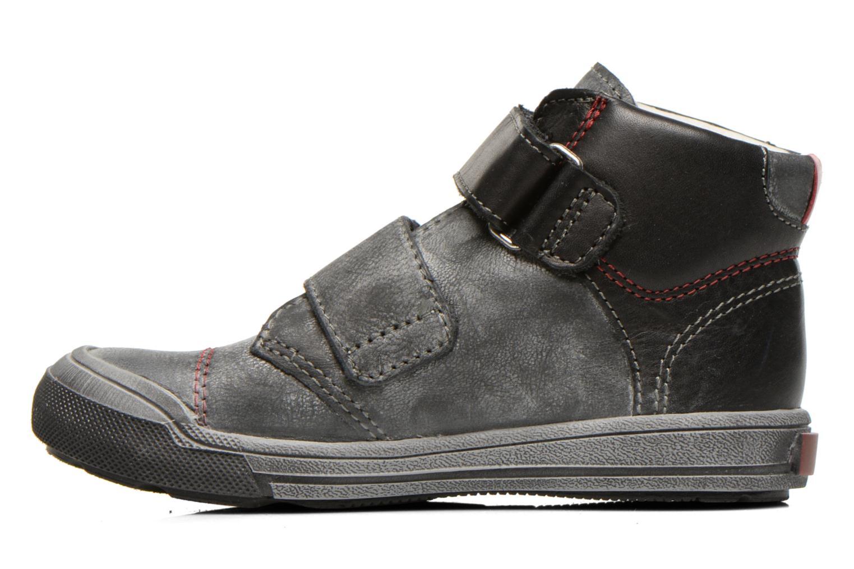 Zapatos con velcro GBB Lorencio Negro vista de frente