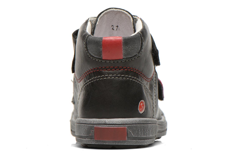 Zapatos con velcro GBB Lorencio Negro vista lateral derecha
