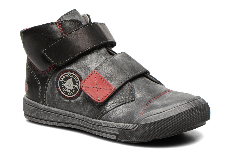 Zapatos con velcro GBB Lorencio Negro vista de detalle / par