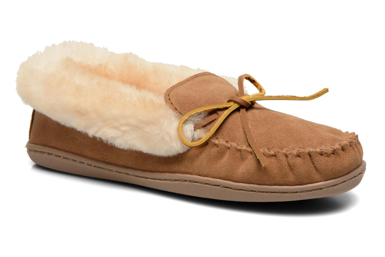Grandes descuentos últimos zapatos Minnetonka Alpine Sheepskin Descuento Moc (Marrón) - Pantuflas Descuento Sheepskin 296580