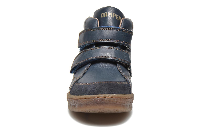 Chaussures à scratch Camper Baobab Kids Bleu vue portées chaussures