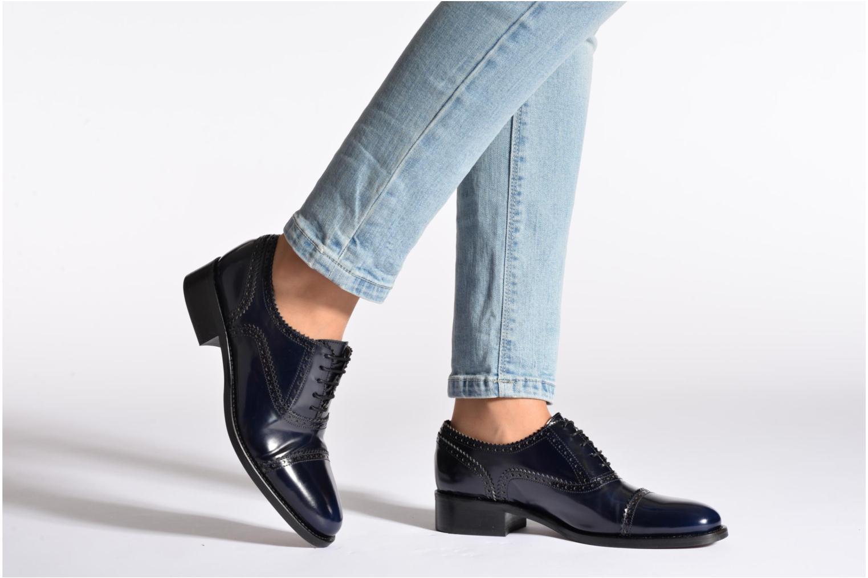 Chaussures à lacets Muratti Lapis Bleu vue bas / vue portée sac