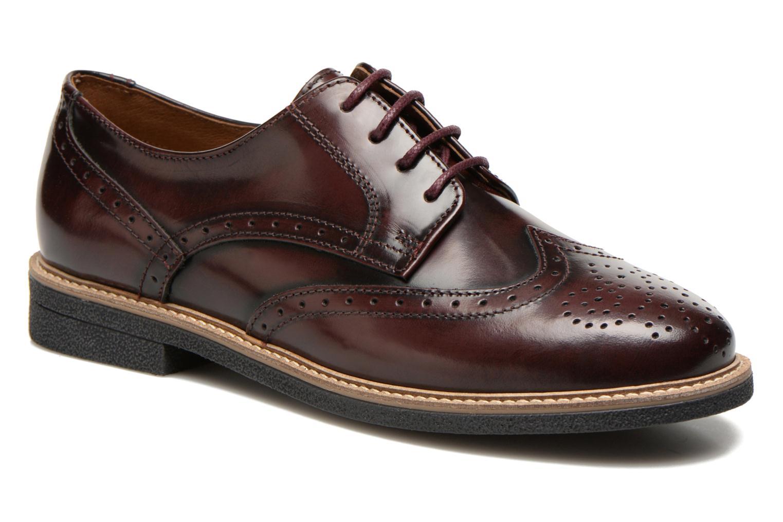 Chaussures à lacets TBS Blasty Bordeaux vue détail/paire
