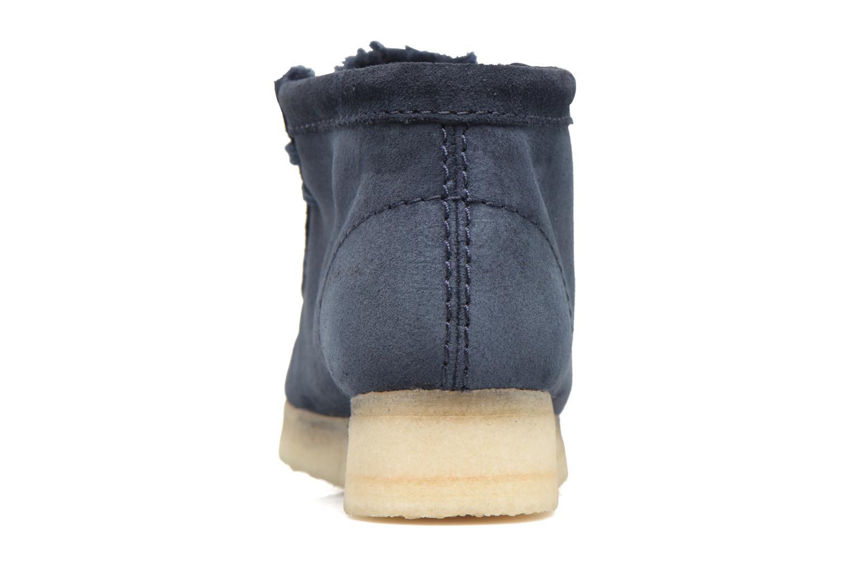 Zapatos con cordones Clarks Originals Wallabee Boot W Azul vista lateral derecha