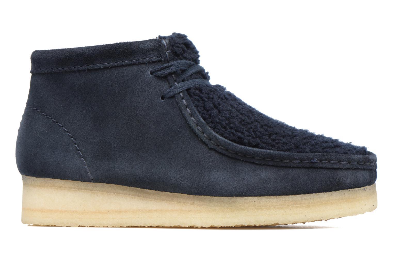 Chaussures à lacets Clarks Originals Wallabee Boot W Bleu vue derrière