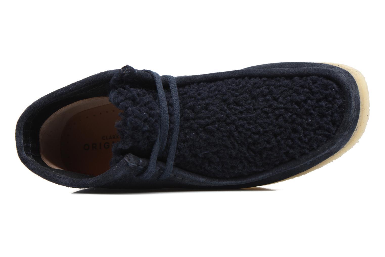 Zapatos con cordones Clarks Originals Wallabee Boot W Azul vista lateral izquierda