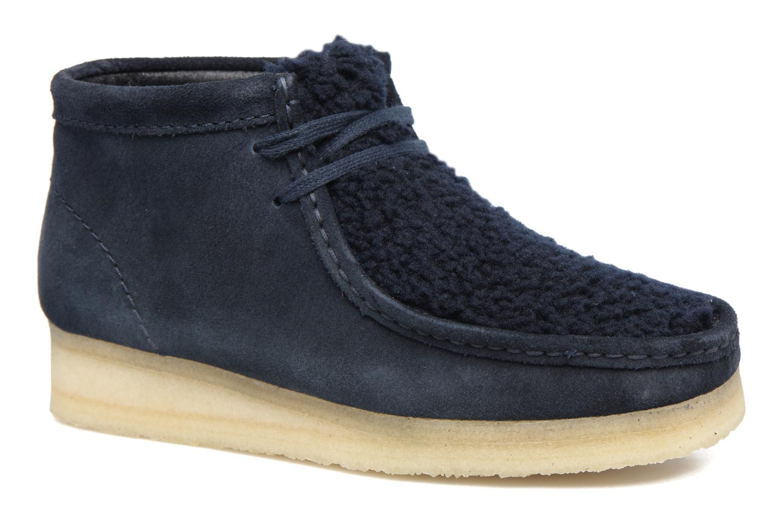 Chaussures à lacets Clarks Originals Wallabee Boot W Bleu vue détail/paire