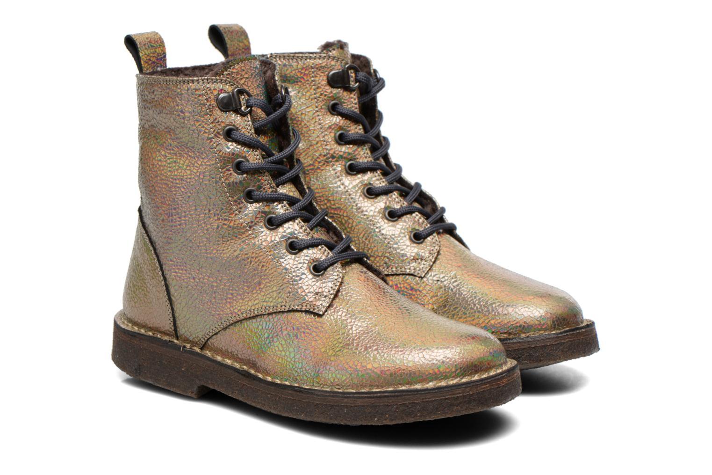 Bottines et boots PèPè Carolina Or et bronze vue 3/4