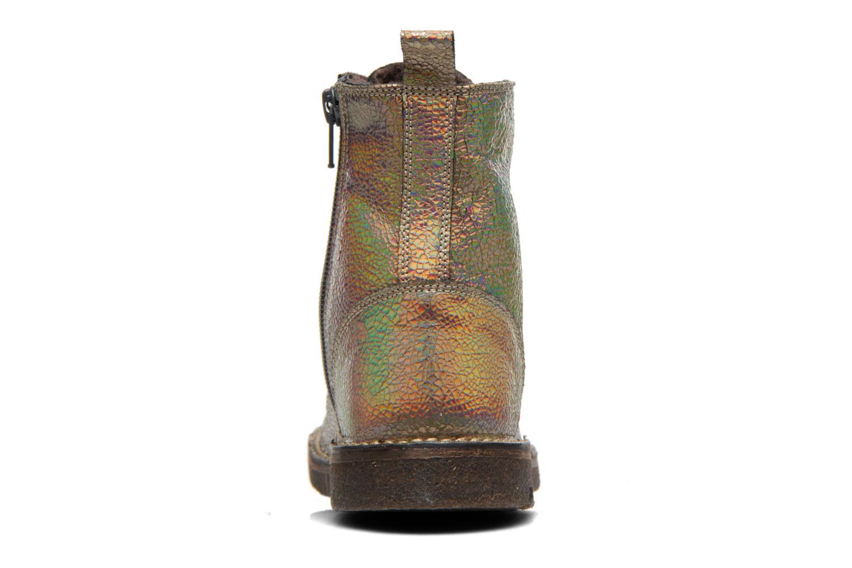 Bottines et boots PèPè Carolina Or et bronze vue droite