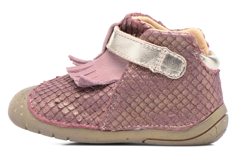 Zapatos con velcro Babybotte Zazie Rosa vista de frente