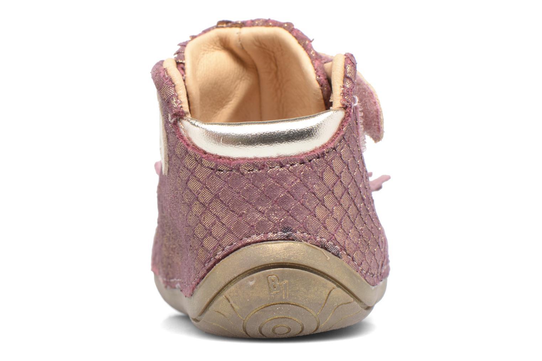 Zapatos con velcro Babybotte Zazie Rosa vista lateral derecha