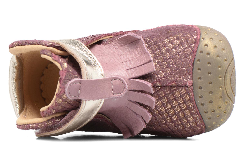 Zapatos con velcro Babybotte Zazie Rosa vista lateral izquierda