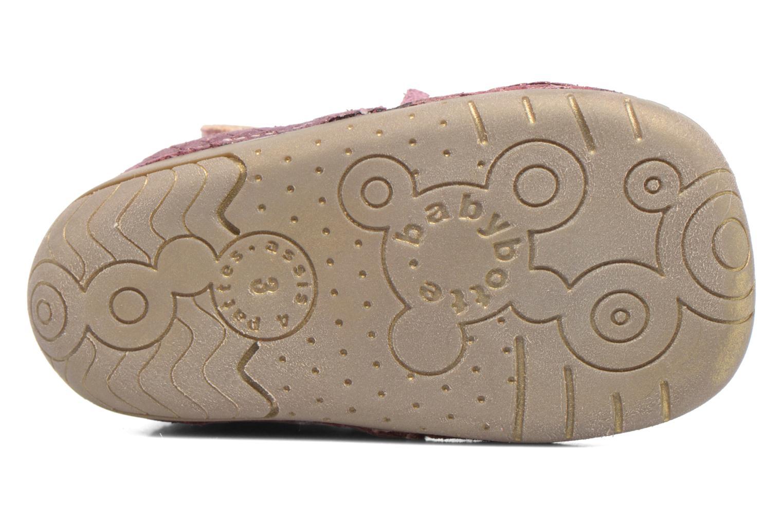 Zapatos con velcro Babybotte Zazie Rosa vista de arriba