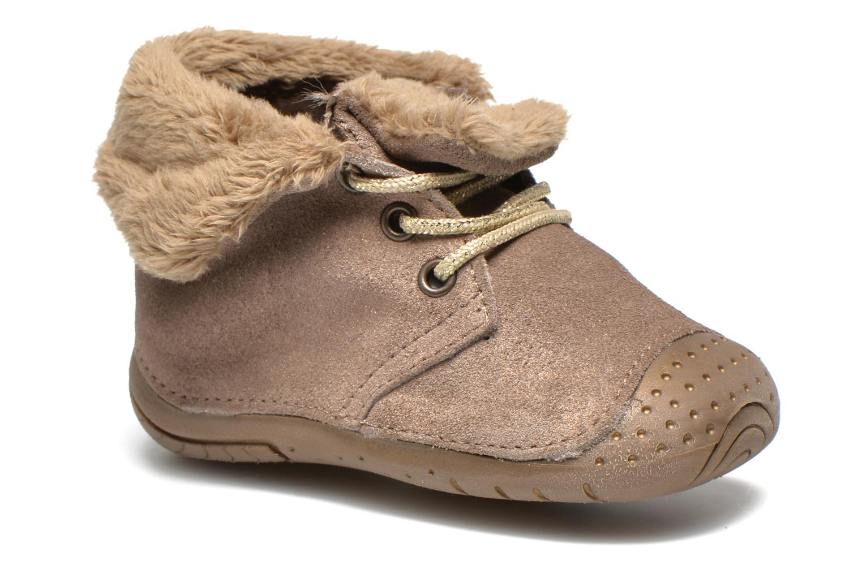 Ankelstøvler Babybotte Zouk1 Beige detaljeret billede af skoene