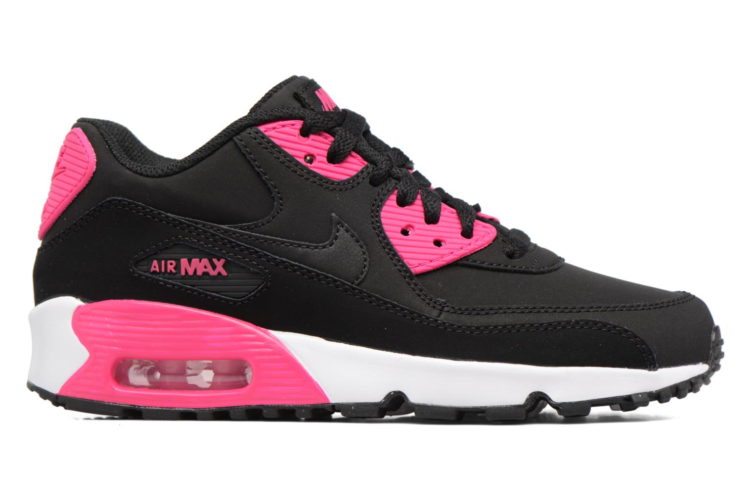 Barely Rose/Gunsmoke-White-Black Nike Nike Air Max 90 Ltr (Gs) (Rose)
