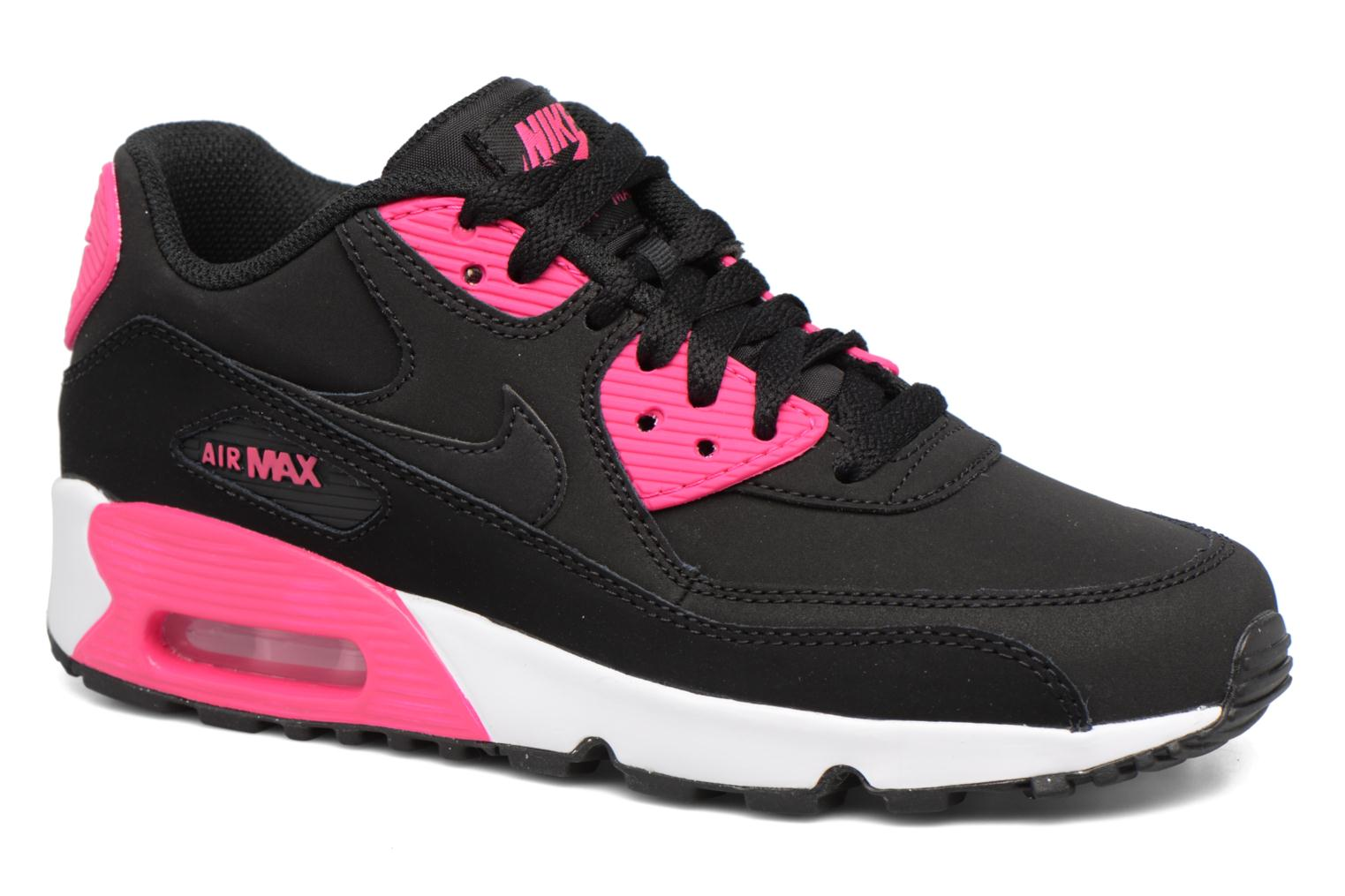 Nike Air Max 90 Ltr (Gs) Black/Pink Prime-White