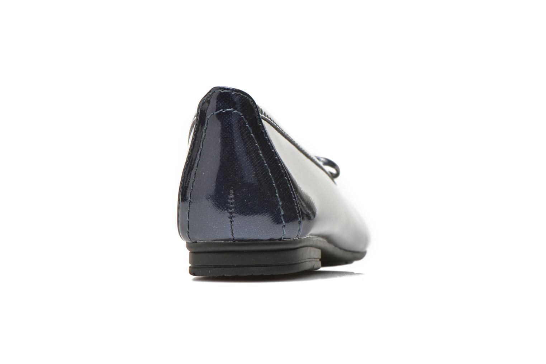 Bailarinas Jana shoes Aciego Azul vista lateral derecha