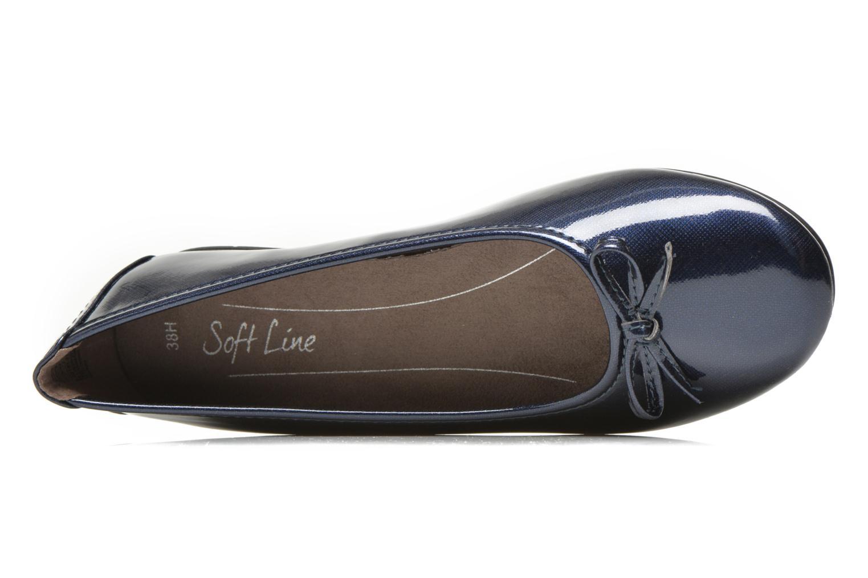 Bailarinas Jana shoes Aciego Azul vista lateral izquierda