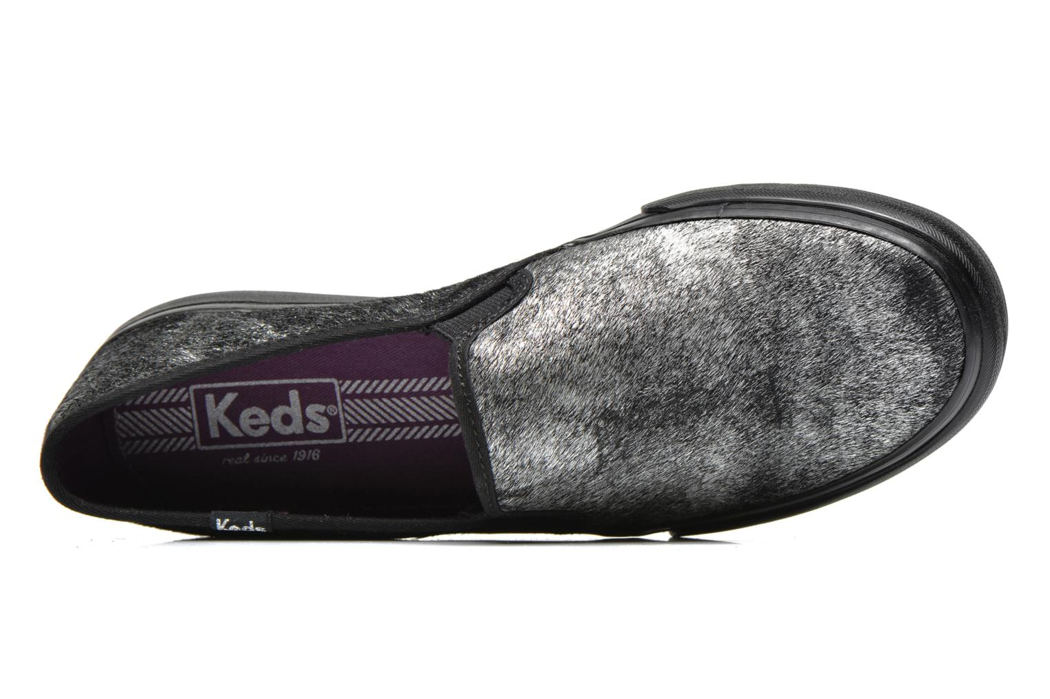 Metallic Blue Keds DOUBLE DECKER MET FAUX PONY (Bleu)