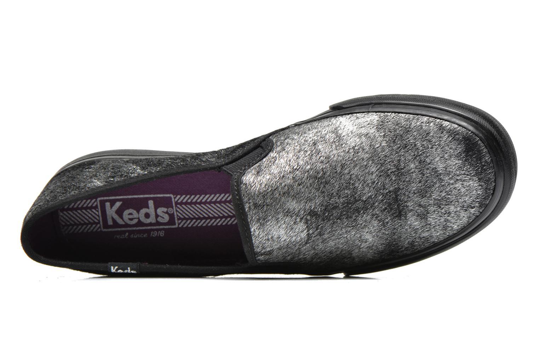 Baskets Keds DOUBLE DECKER MET FAUX PONY Noir vue gauche