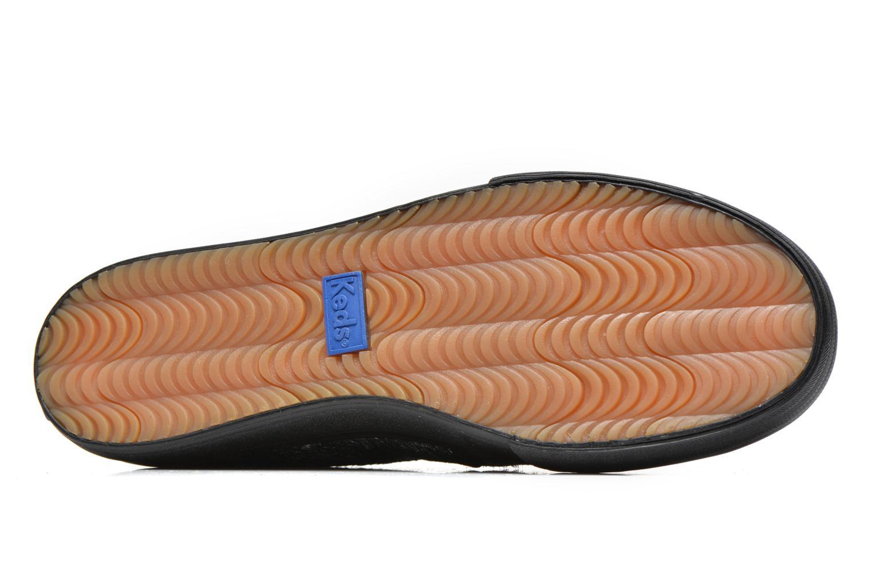 Baskets Keds DOUBLE DECKER MET FAUX PONY Noir vue haut