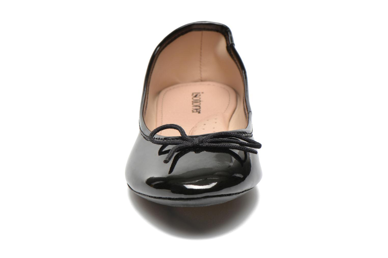 Ballerines Isotoner Ballerines vernies Noir vue portées chaussures