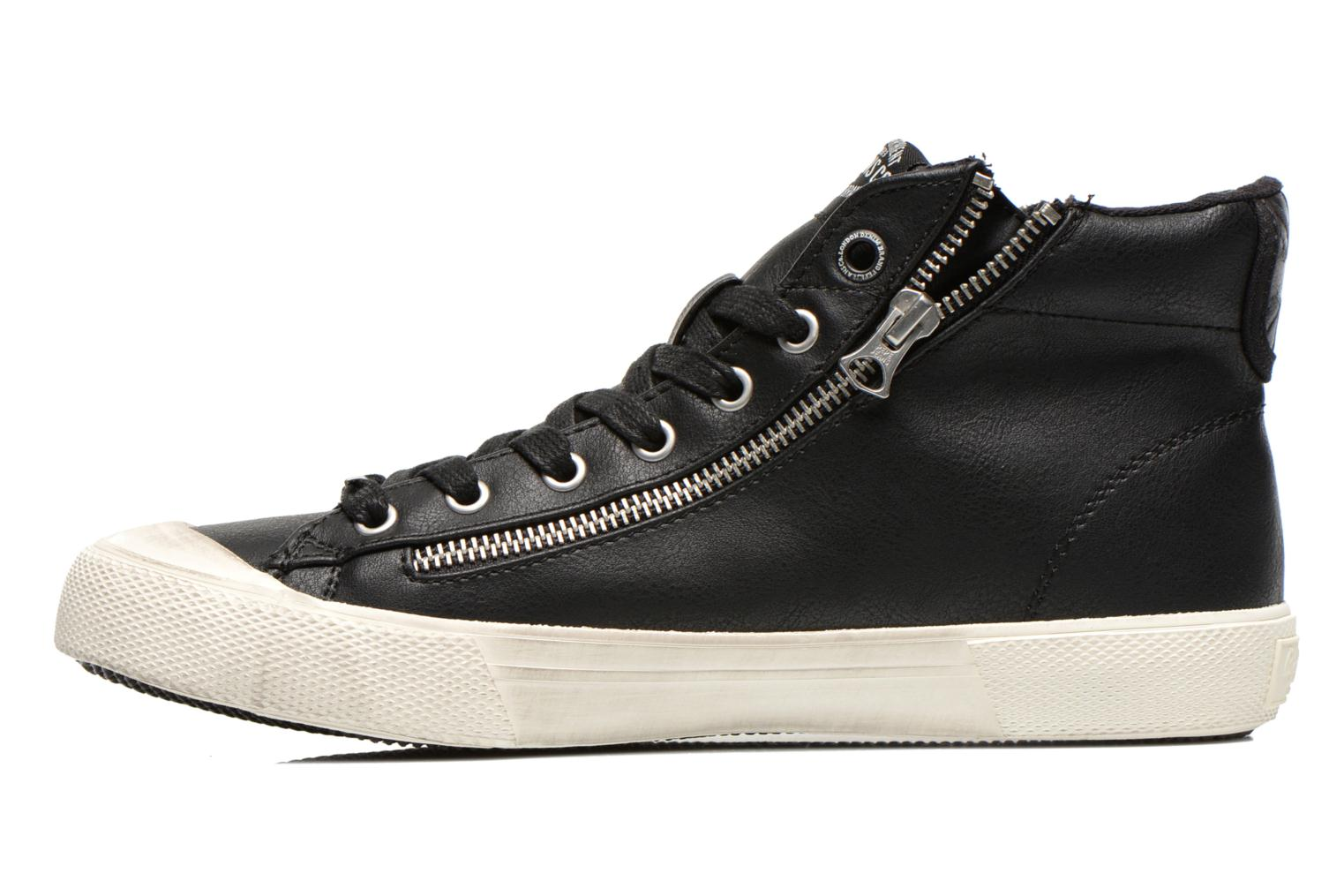Baskets Pepe jeans Brother Zip Noir vue face