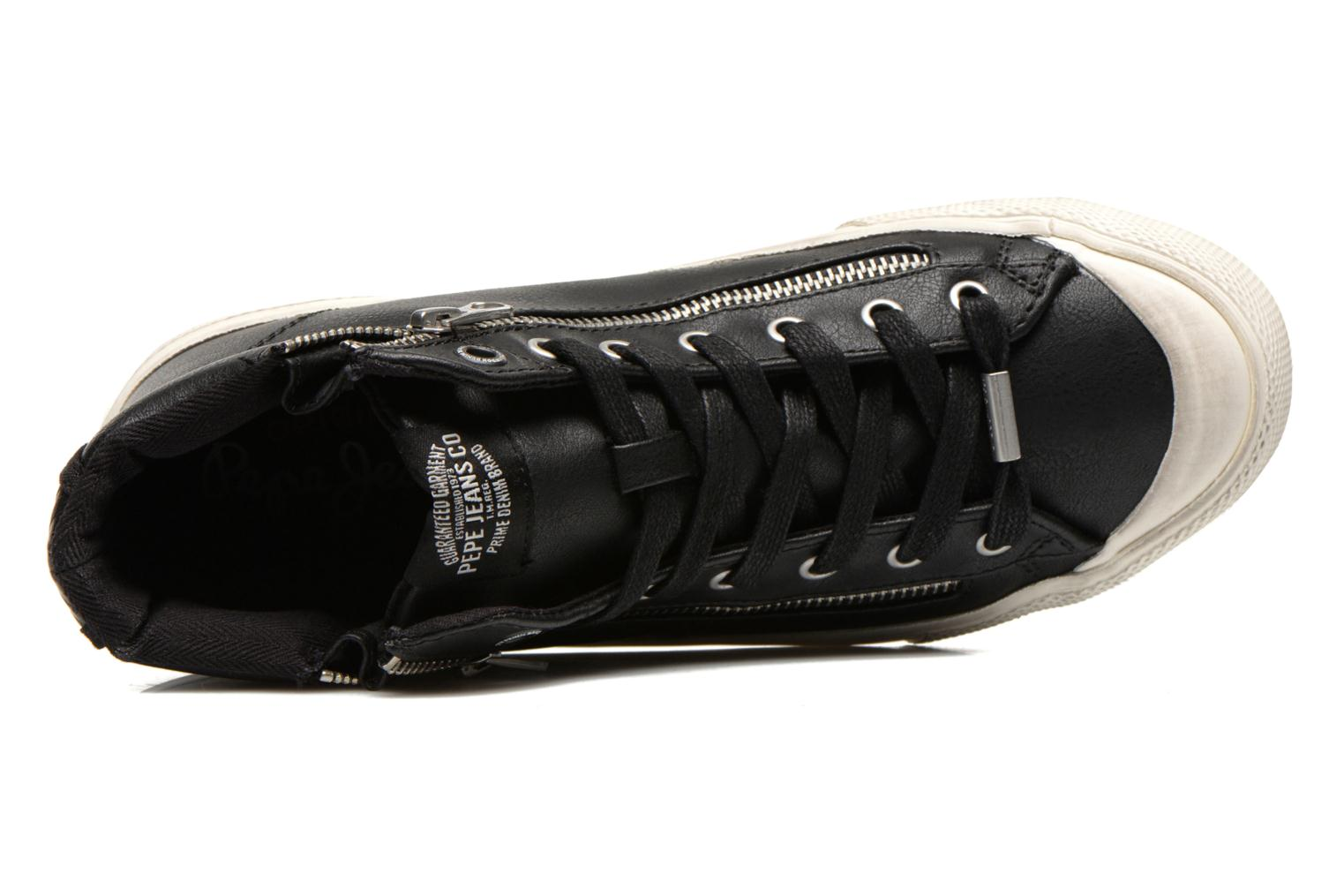 Baskets Pepe jeans Brother Zip Noir vue gauche