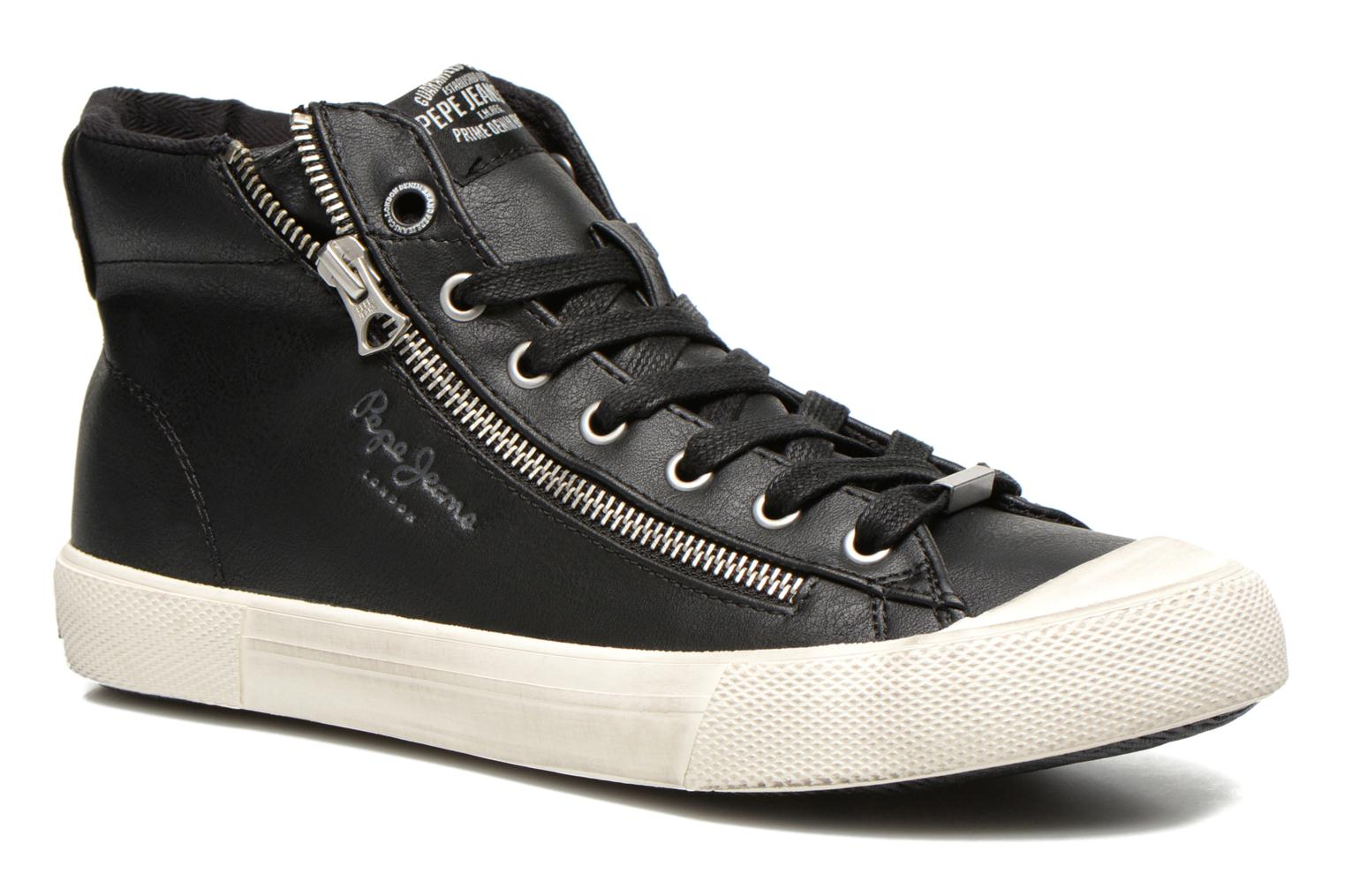 Baskets Pepe jeans Brother Zip Noir vue détail/paire