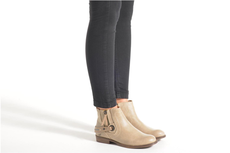 Bottines et boots Mustang shoes Isauris Beige vue bas / vue portée sac