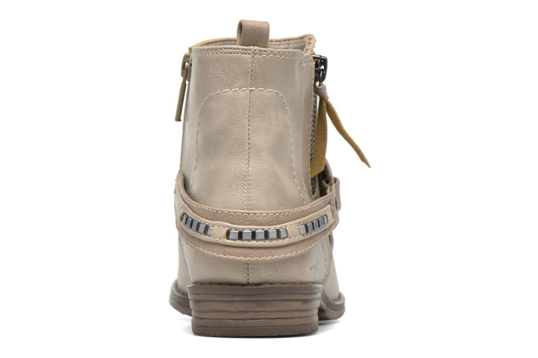 Bottines et boots Mustang shoes Isauris Beige vue droite