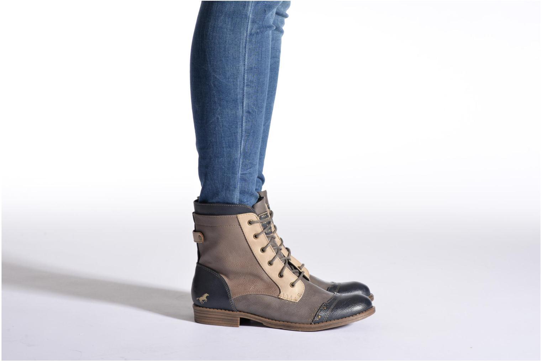 Bottines et boots Mustang shoes Toldil Marron vue bas / vue portée sac