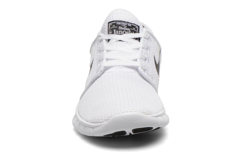 Baskets Nike Stefan Janoski Max Blanc vue portées chaussures