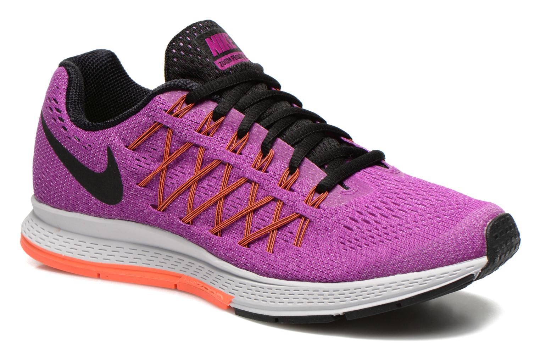 Nike - WMNS Air Zoom Pegasus 32 - Chaussures De Sport, Femme, Violet (Vivid Purple/Black-FCHS Glow), Taille 38