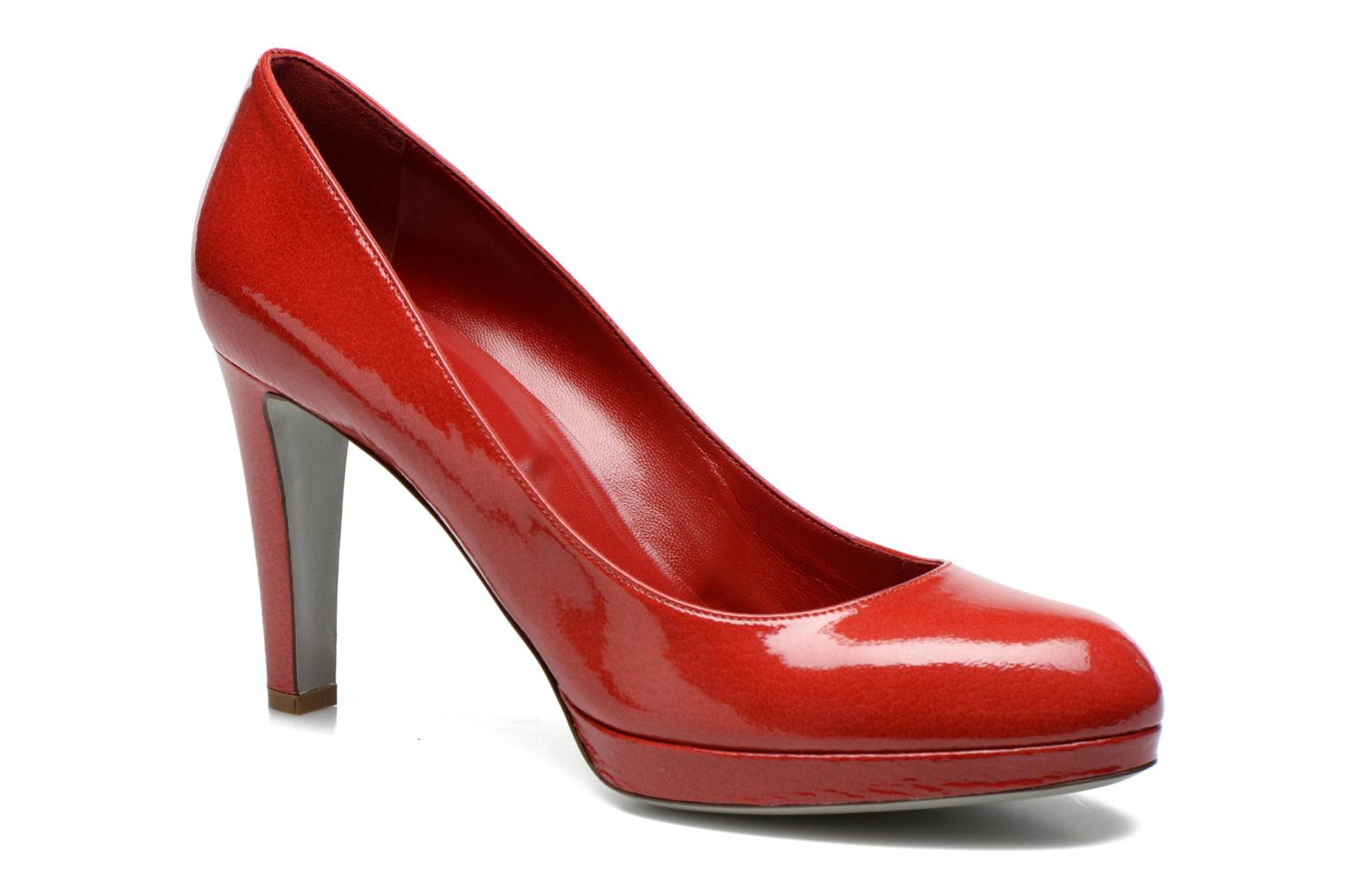 High heels Sergio Rossi Ambra Red detailed view/ Pair view
