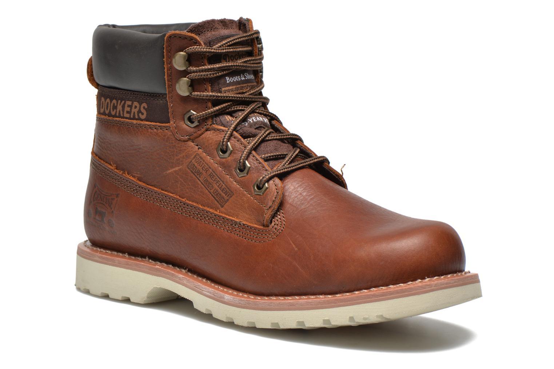 Bottines et boots Dockers Olivier Marron vue détail/paire